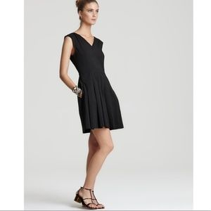 THEORY Narida Crunch Little Black Fit Flare Dress